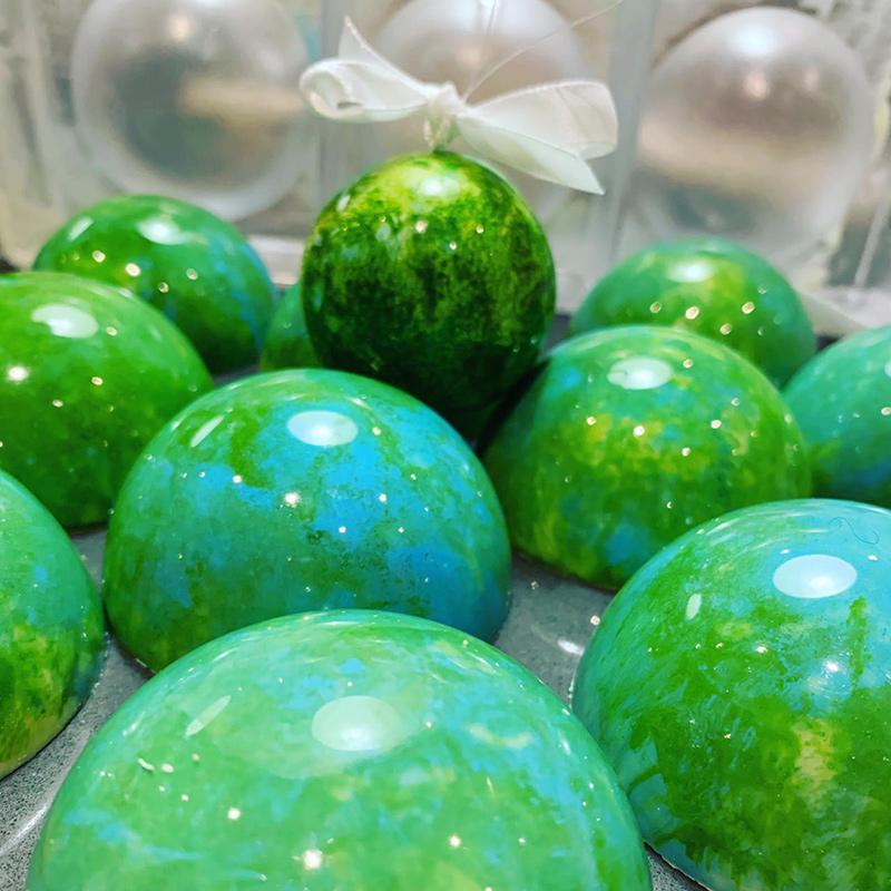 Chocolade kerstballen groot