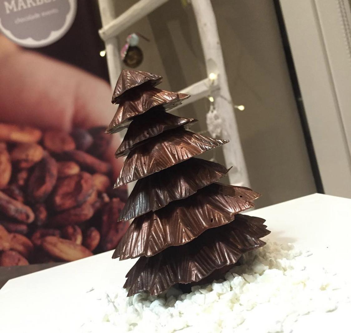 3-D Kerstboom In melk, puur of wit