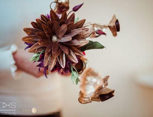 Chocolade bruidsboeket